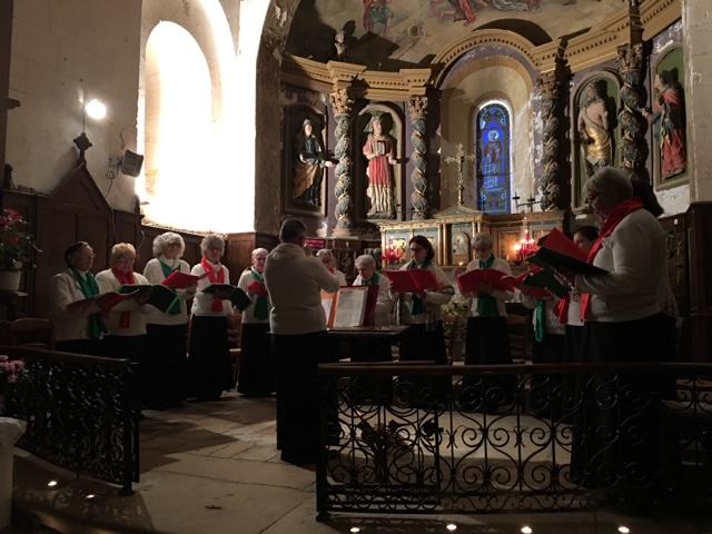La Chorale en plein concert