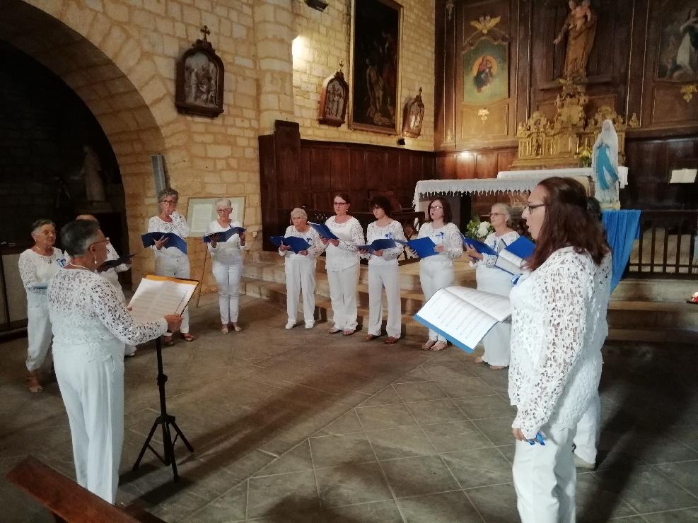 Notre Chorale entrain de chanter
